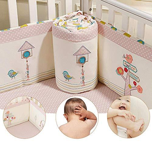 Protège-lits respirants pour lit de bébé recouvert de couvre-lit rembourré lavable à la machine, rembourrage sécuritaire pour pare-chocs, protège-pare-chocs, tissu en velours confortable, 2 pièces
