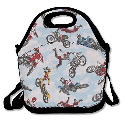 Bolsa de almuerzo para alimentos, bolsa térmica para motocicletas, bicicletas de suciedad, nevera, para mujeres, hombres, trabajo, estudiantes, niños a la escuela