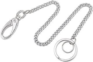 Liangery Wallet Chain, Wallet Long Purse Chain Punk Key Chain with Chain for Biker Trucker Motorcycle Pants Jean, Silver 11.81 inch for Men Women