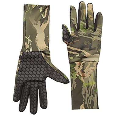 Under Armour Men's ColdGear Camo Liner Gloves, Ridge Reaper Camo Forest /Black, Large