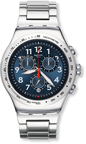 Swatch YOS455G - Reloj Cronógrafo de Cuarzo, Correa de Acero Inoxidable, Unisex