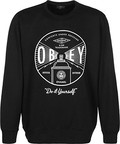 Obey Under Pressure Crew Sudadera black