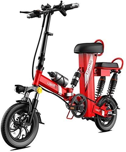 Ebikes, 350W 12 Pulgadas de la montaña eléctrica de la Bicicleta para Adultos, Engranaje de Scooter eléctrico de Acero Altas de Carbono con batería de Litio extraíble 48V30A ZDWN