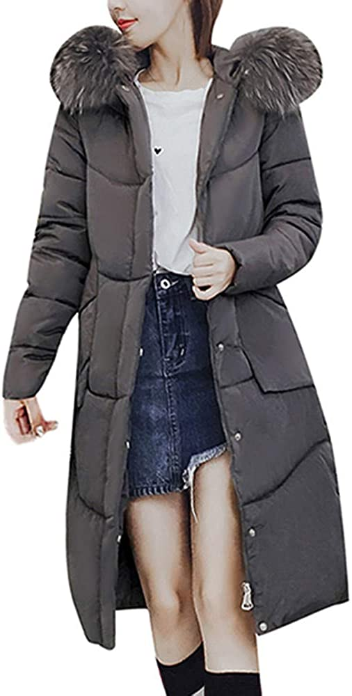 LODDD Women Winter Long Coat Faux Hooded Fur Jackets Warm Collar Award At the price of surprise