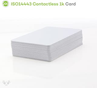ISO14443 NFC Contactless 1k Smart Cards - RFID 13.56MHz - Blank printable cards for Time Attendance and Access Control (Pack of 200 pcs)