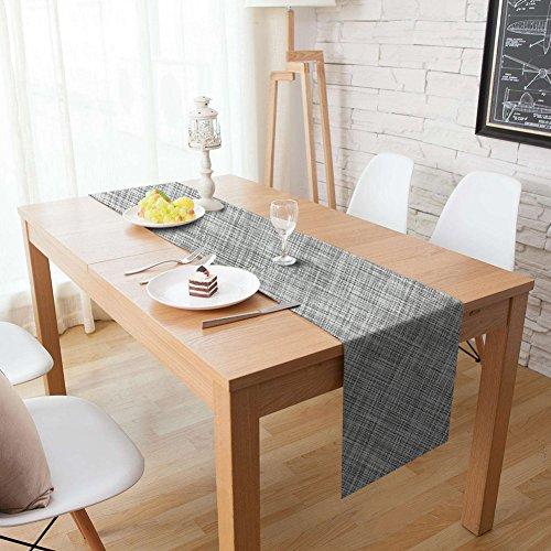 Homcomodar Tischläufer Waschbar Hitzebeständig PVC Esstisch Läufer Tischläufer für Esstisch 30x180cm(Grau)