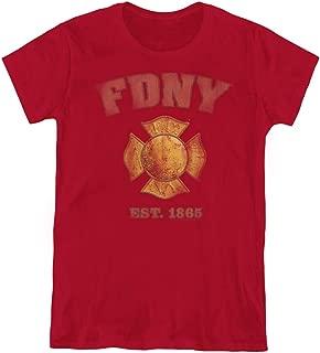 New York City FDNY Vintage Badge Women's T Shirt