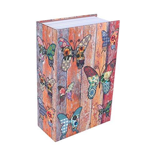 Cassetta di sicurezza,Haofy libro del libro Nascosto libro di diversione sicuro con combinazione(modelli farfalla)