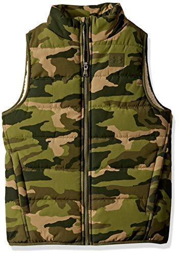 Under Armour Jungen-Weste mit Ua-Druck, Sherpa-Futter, Maskierung, Jungen, Jacke, Ua Print Masking Sherpa Lined Vest, GUARDIAN GREEN, X-Large