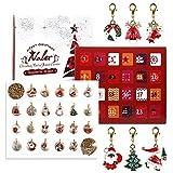 Naler Natalizio Calendario dell'Avvento di Gioielli 22 Ciondoli + 1 Collana + 1 Bracciale Natalizio Regalo per Moglie, Fidanzata, Madre e Amica Natale Costume Festa