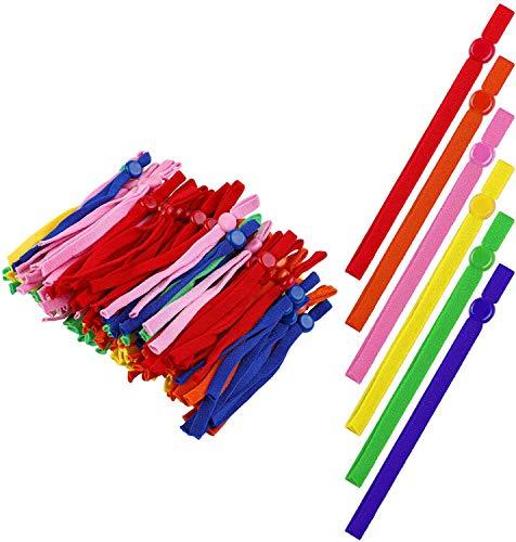Surfilter 200 Stück elastische Kordelbänder mit Verstellbarer Schnalle Nähen elastische Bandbänder Dehnbares Nähen Anti-Slip-Ohrenschützer-Seil für Bastelbedarf