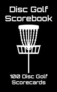 Disc Golf Scorebook: 100 Disc Golf Scorecards (black)