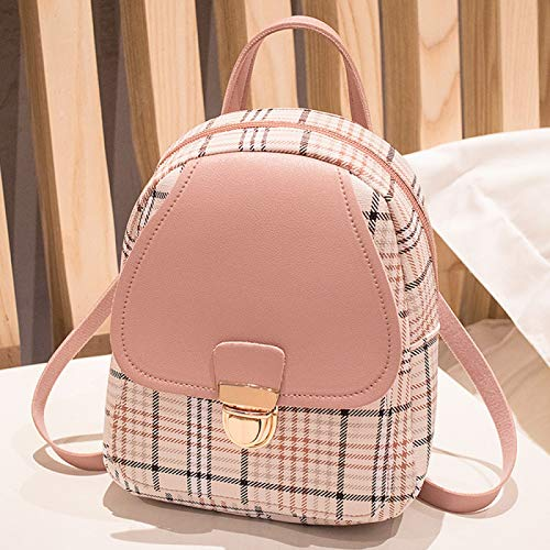 REBKW Women's Bag Canvas Backpack School bag For Girls Rucksack Backpacks School bags Travel (style 2 pink)