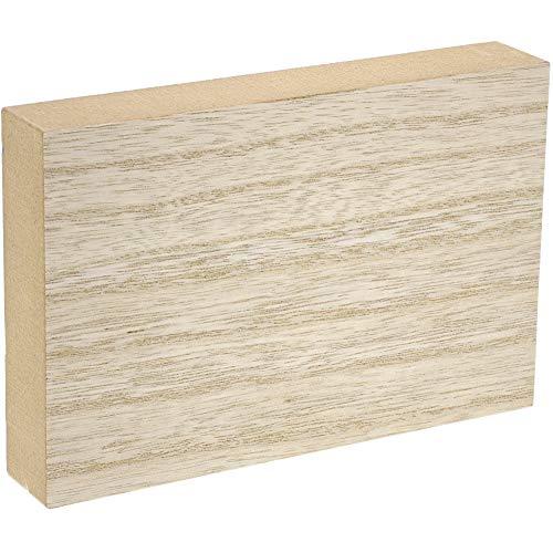 Bloques de madera sin terminar para manualidades, bloque de letreros rectangulares (4 x 6 pulgadas, 4 unidades)