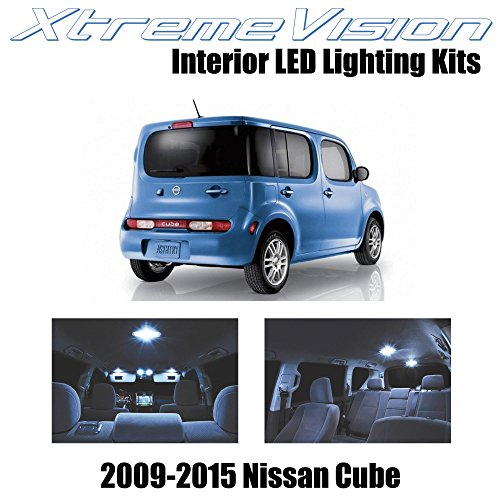 XtremeVision Interior LED for Nissan Cube 2009-2015 (5 Pieces) Cool White Interior LED Kit + Installation Tool