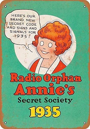 "Radiancy Inc Orphan Annie'S Sect Society - Cartel decorativo para pared, diseño vintage con texto en inglés ""Orphan Annie'S Sect Society"