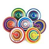 16 Piezas Juego de Peonza de Madera, Peonzas de Madera de Colores, Regalos y Detalles para Comuniones, Mini Colorido Giroscopios de Madera Artesanales para Juguetes de Fiesta Infantil Niños, Niñas