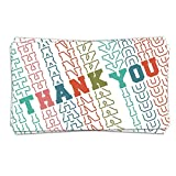 50 Mirror Font Customer Thank You Order Cards (3.5' x 2') - Small Online Business Package Insert - Thank Customer For Order - Business Card Size