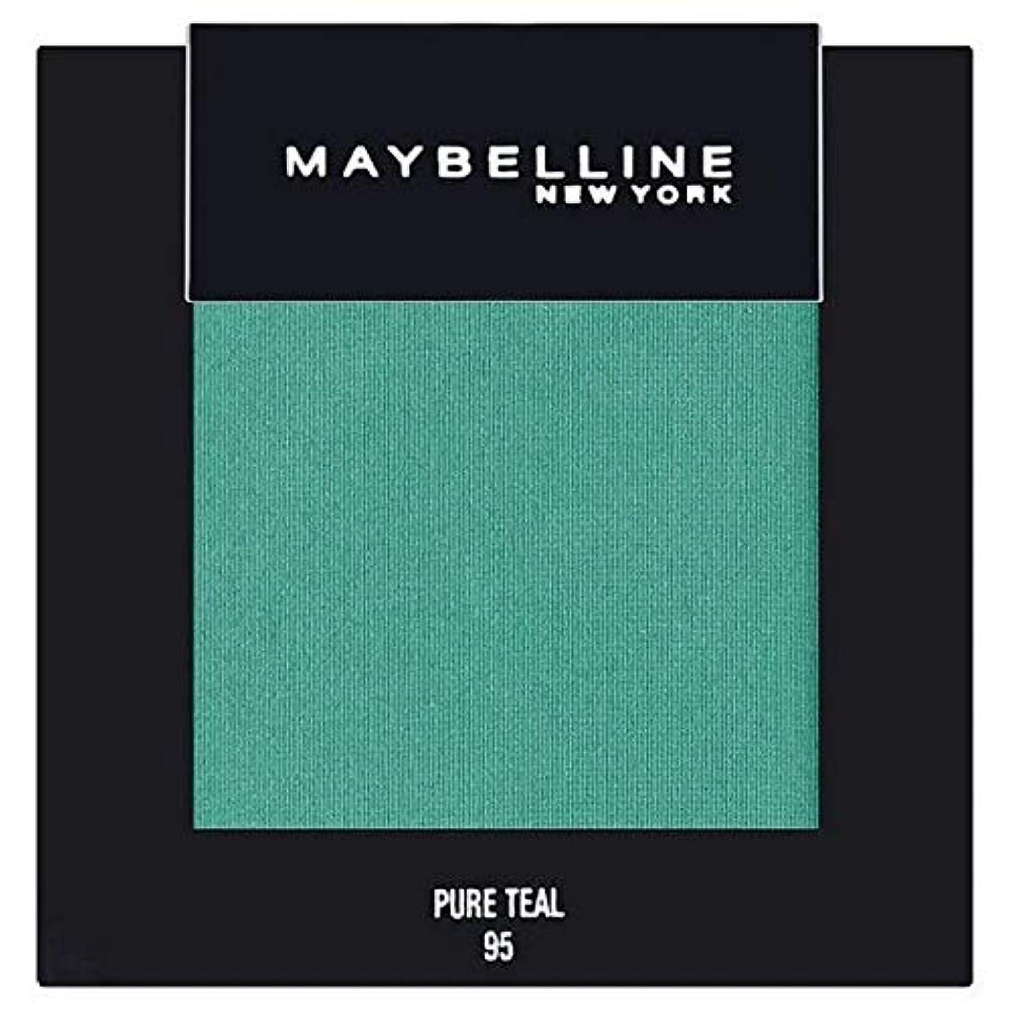 透けて見える六残る[Maybelline ] メイベリンカラーショー単一グリーンアイシャドウ95純粋ティール - Maybelline Color Show Single Green Eyeshadow 95 Pure Teal [並行輸入品]