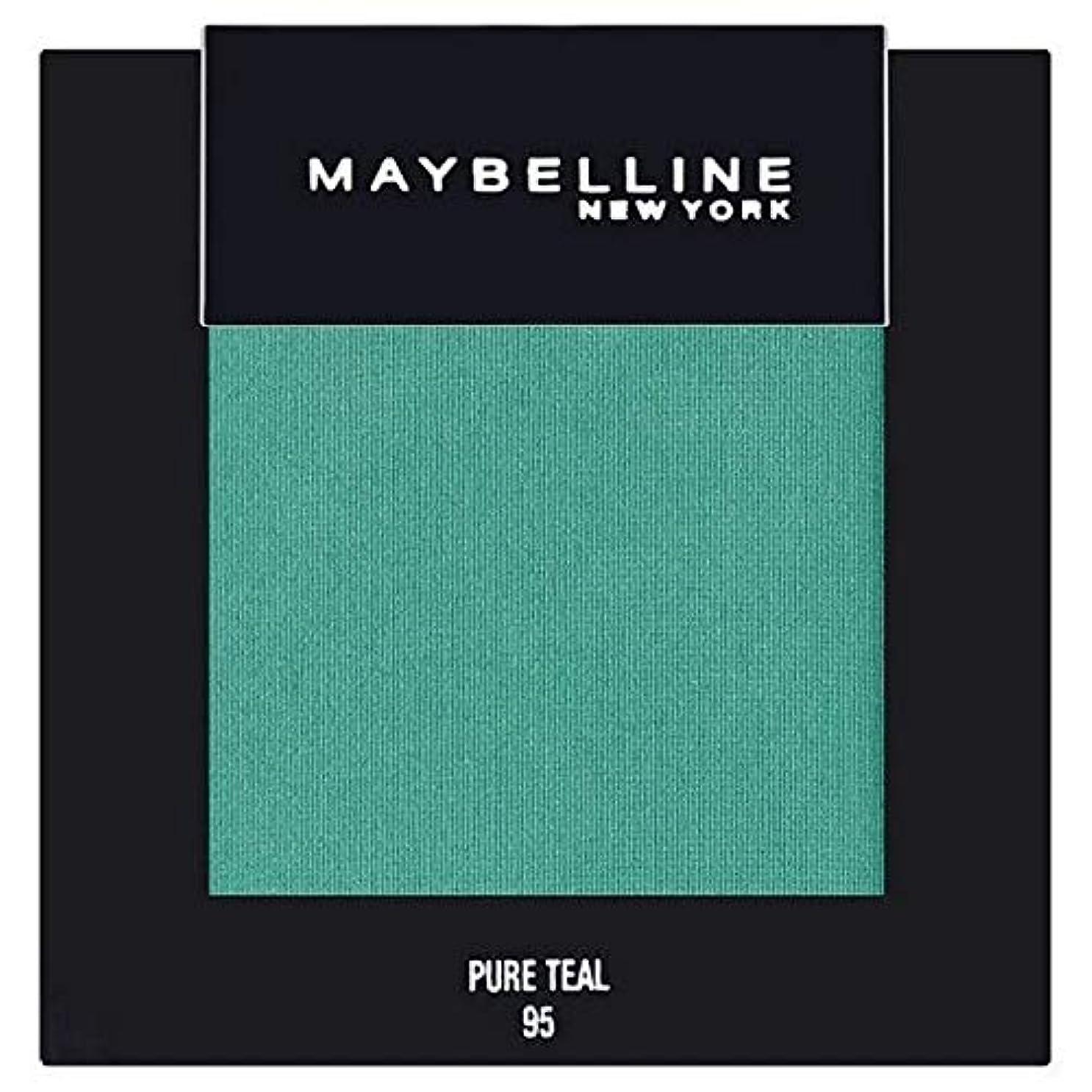 道を作る不調和チャペル[Maybelline ] メイベリンカラーショー単一グリーンアイシャドウ95純粋ティール - Maybelline Color Show Single Green Eyeshadow 95 Pure Teal [並行輸入品]