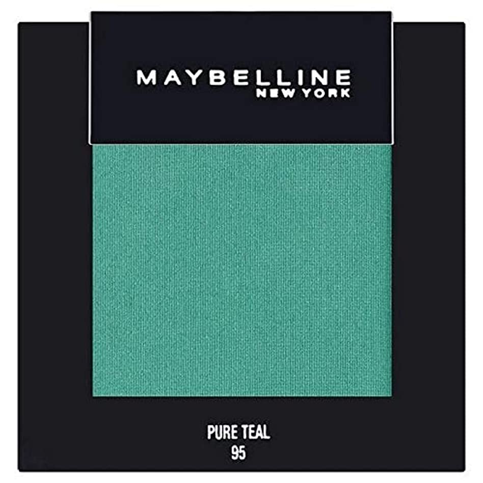 マカダム安定しました矢印[Maybelline ] メイベリンカラーショー単一グリーンアイシャドウ95純粋ティール - Maybelline Color Show Single Green Eyeshadow 95 Pure Teal [並行輸入品]