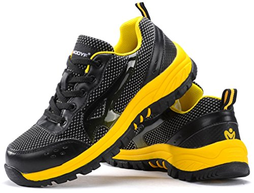 Safety Shoes for Women Anti-Piercing and Breathable Safety Footwear M103 LARNMERN Steel Toe Shoes Women Industrial Construction Outdoor Casual Steel Toe Sneakers