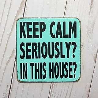 Modtory Keep Calm Seriously? en Esta casa? Imán de Cocina para calcetín de Navidad Especial Regalo Cocina decoración