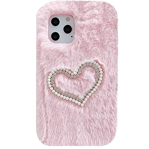 Funda para Galaxy J5 Prime/2016 On5, suave, hecha a mano, de lana, con forma de corazón, suave y sumisa, para Samsung Galaxy G570, color rosa