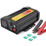 QCYP 1000W ist mit 2 AC-Ausgangsbuchsen und 2 USB 2.1A-Anschlüssen ausgestattet....
