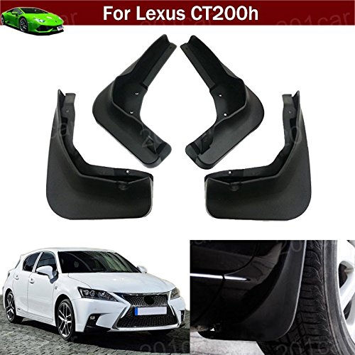 Kaitian 4Pcs Rubber Car Mud Guards Auto Mud Flaps Automotive Splash Guards Mudguards Mudflaps Fender for Lexus CT 200h 2012 2013 2014 2015 2016 2017 2018 2019