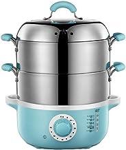 ZHGUO Steamer Set avec électrique 4L Cuiseur à vapeur Cuisinière électrique Cuisson rapide légumes en acier inoxydable Gra...
