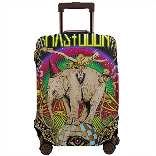 M-astodon Luggage Cover Protector Suitcase Cover Spandex Travel Luggage Cover Anti-Scratch Dustproof Personalized Zipper Travel Suitcase Protector S