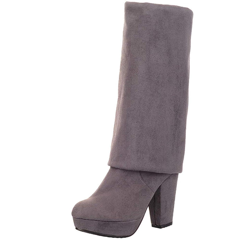 是正郵便番号文庫本[Unm] レディーズ ファッション High ブーツ Block ハイヒール
