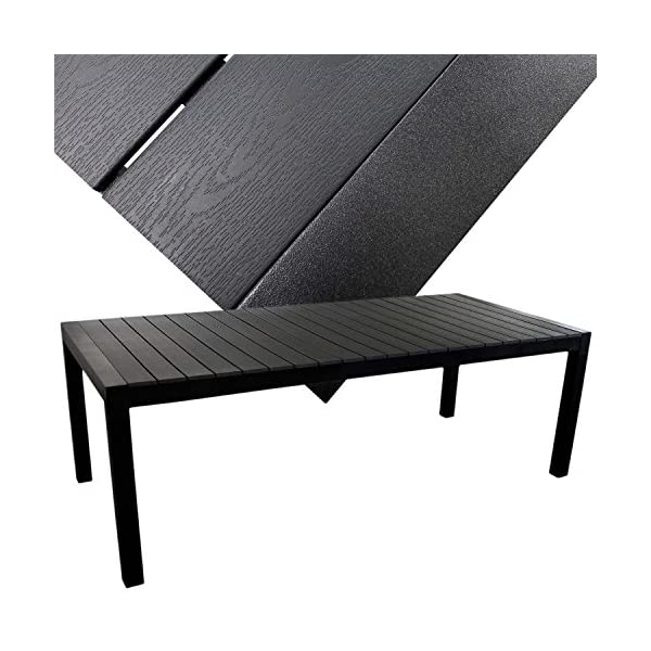 XXL Gartengarnitur Gartenmöbel Terrassenmöbel Set Sitzgruppe Sitzgarnitur - Aluminium / Polywood Ausziehtisch 224/284…