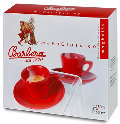 500gr of moka klassisches gemahlenes Doppelpack - 500g gemahlener Kaffee Barbera Kaffee Moka klassisches Zweibettig - gemahlener Kaffee 500g Moka Classic Doppelpack - Kaffee Barbera