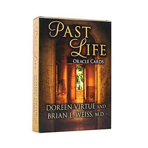 GGSDDDUP Past Life Oracle-Karten, 44 Sheets Tarot-Kartenspiel Freunde der Familie Party-Brettspiel Divination Wahrsagen Requisiten, Vergoldet Englische Version