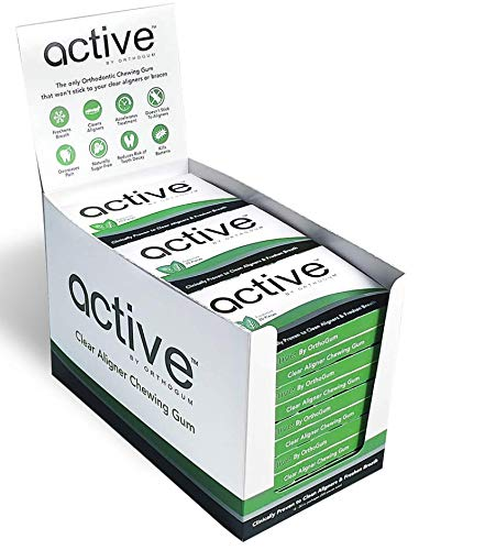 Active Orthodontic Chewing Gum. Gum For Braces. Gum for Clear Al
