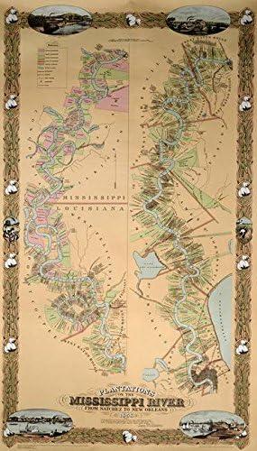 Imagekind Sales for sale Wall Art Print Entitled Depicting Plantations Map T On Indefinitely