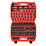 Get MIXPOWER 3/8'' Drive Master Impact Socket Set, 87-Piece SAE and Metric-1/4-Inch to 3/4-Inch and 6-19 mm, Socket Set Standard/Deep/Universal Cr-MO Steel Sockets with Star and Inverted Star Socket Just for $158.00