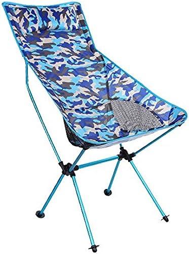Fournitures de camping portatives en plein air Pliage en aluminium extérieur de camouflage   chaise de plage   chaise longue polyvalente de camping en montagne   longue chaise pliante multifonctionnel