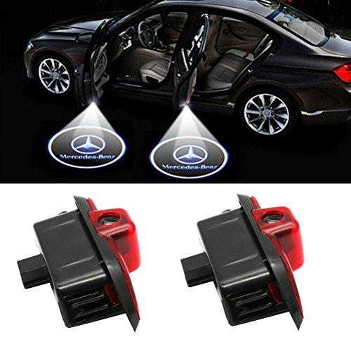 Grolish Car Door LED Lighting Logo Lights Projector Courtesy Welcome Lights For Mercedes-Benz C Class(2-Pack)