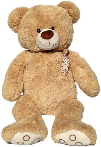 Wagner 9015 - XXL Plüschbär Teddy Bär - 100 cm groß - hell-braun - Teddybär Kuschelbär Kuscheltier