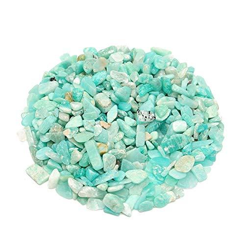 LULIJP Garten-Terrasse Natürlicher blau-grüner Stein 50g 4-6mm Kristall Raue Rock Mineral Probe Steine Dekoration Ornament