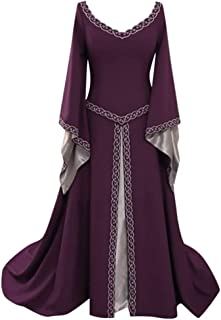 Party Dresses for Women Medieval Vintage Style Solid Color Flare Sleeve Princess Dress Exclusive Luxury Clothing