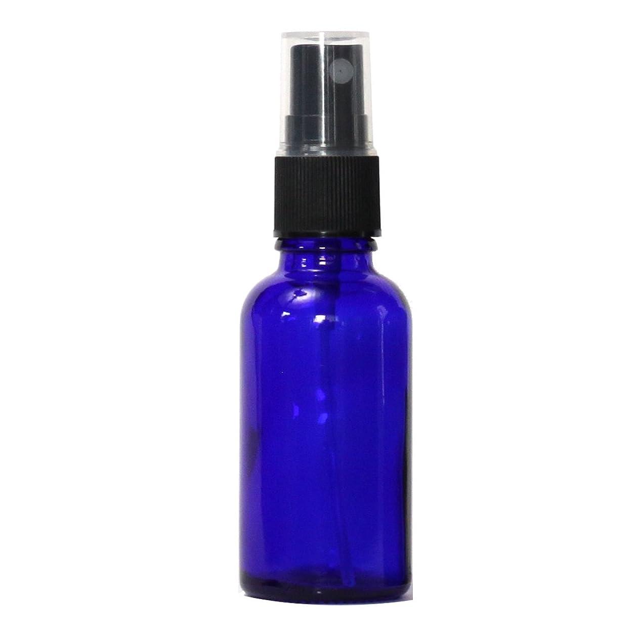 イライラする画面友だちスプレーガラス瓶ボトル 30mL 遮光性ブルー おしゃれガラスアトマイザー 空容器