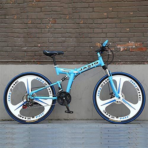 WGYDREAM Mountainbike Bici Bicicletta MTB Mountain Bike, 26 Pollici Pieghevole in Acciaio al Carbonio Telaio Hardtail Bike, Full Suspension E Doppio Freno A Disco, 21 velocità MTB Mountain Bike