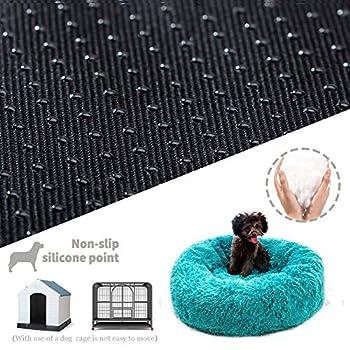 Paniers Et Mobilier pour Chiens, Puppy Love Panier Chien, Coussin Chien Anti Stress, Panier pour Chien Grande Taille Orthopédique Moelleux De Chaud- Doux Et ConfortableBlue-120cm