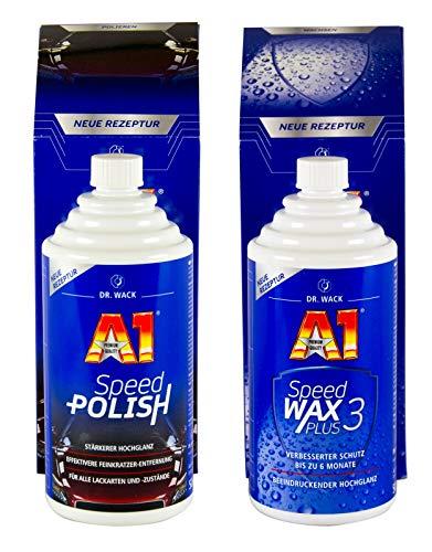 Dr. Wack 2730 A1 Speed Wax Plus 3, 500 ml + Dr. Wack 2700 A1 Speed Polish, 500 ml