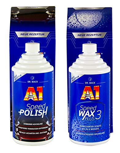 Dr. Wack 2730 A1 Speed Wax Plus 3, 500 ml + Dr. Wack 2700 A1 Speed Polish, 500 ml