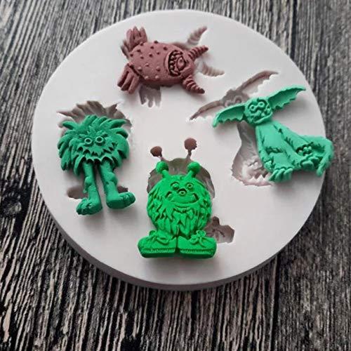 MENGYANG Silikonform Monster Shaped Silikon Schokolade Push Mold Kuchen Zucker Fondant Harz Dekoration Bakewave